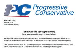 progressive conservative party press release