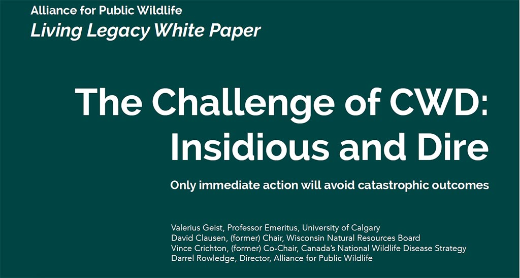 living legacy white paper title the challenge of cwd