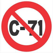 say no to bill c-71 logo
