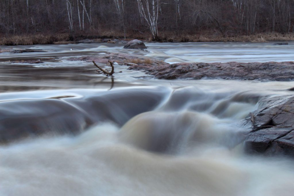 timelapse shot of a rushing river