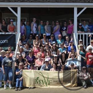 group photo of participants from becoming an outdoors woman