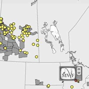 map of chronic wasting disease hotspots in saskatchewan and manitoba