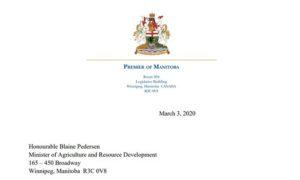 minister blaine pedersen mandate letter